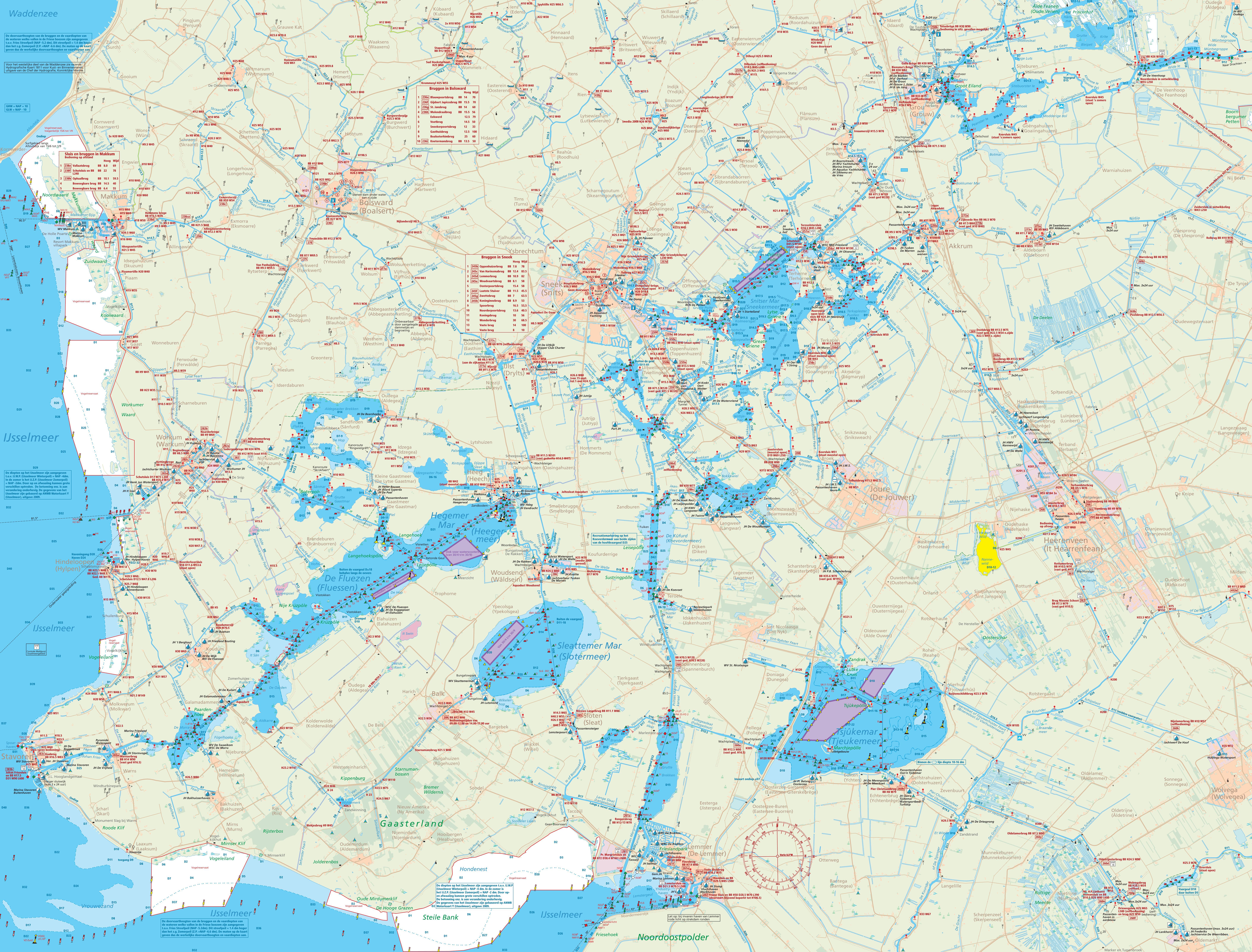 NCBootverhuur Waterkaarten | ncbootverhuur.nl